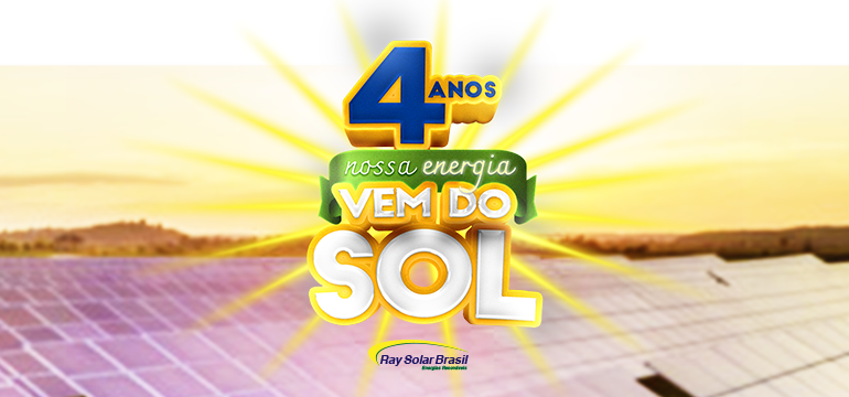 Empresa Ray Solar Brasil completa quatro anos de existência